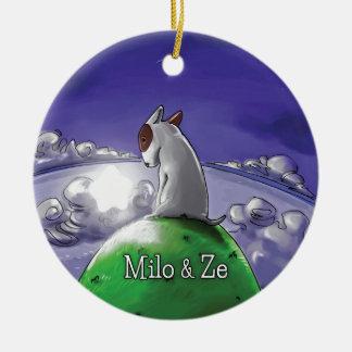 Milo & Ze Round Ceramic Decoration