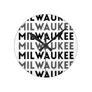 Milwaukee Tile Design Round Clock