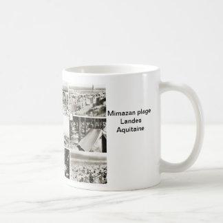 Mimazan plage Landes Aquitaine Basic White Mug