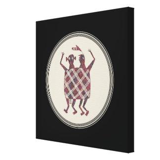Mimbres Pottery Design Canvas Print