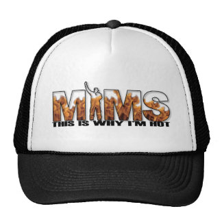 MIMS Hat - This is Why I m Hot Logo - Black