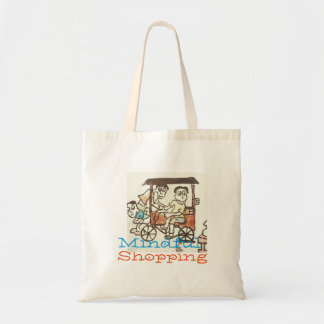 Mindful shopping tote bag