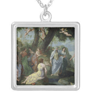 Minerva with the Muses Silver Plated Necklace