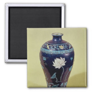 Ming vase with three colour decoration square magnet