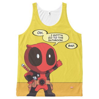 Mini Deadpool All-Over Print Tank Top