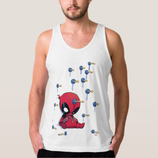 Mini Deadpool Suction Cup Darts Singlet