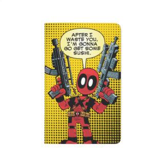 Mini Deadpool With Guns Journals