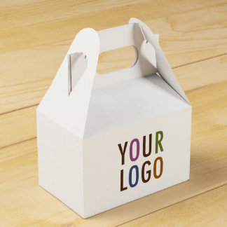 Mini Favor Gift Box with Handle Custom Logo & Text Favour Box