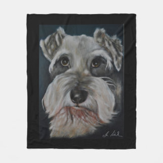 Mini Schnauzer Fleece Blankets