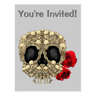 Mini Skeletons Sugar Skull Post Card