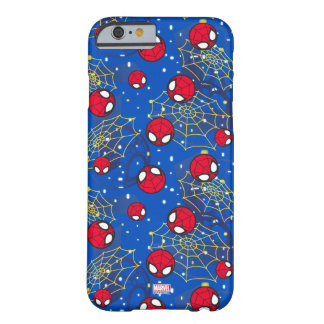 Mini Spider-Man and Web Pattern Barely There iPhone 6 Case