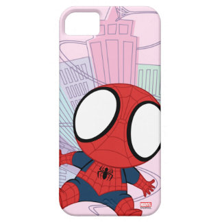 Mini Spider-Man & City Graphic Case For The iPhone 5