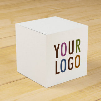 Mini Square Favor Gift Box with Custom Logo & Text Party Favour Box