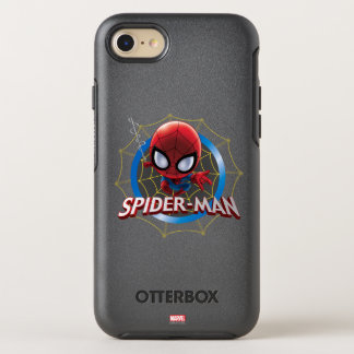 Mini Stylized Spider-Man in Web OtterBox Symmetry iPhone 8/7 Case