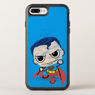 Mini Superman Sketch - Flying OtterBox Symmetry iPhone 8 Plus/7 Plus Case