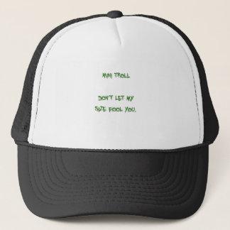 mini troll trucker hat