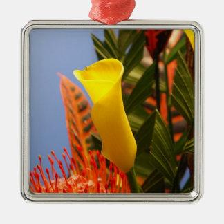 mini yellow calla lily christmas ornament
