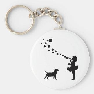 Miniature Bull Terrier Key Ring