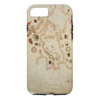 Miniature Nautical Map of the Central Mediterranea iPhone 8/7 Case