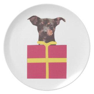 Miniature Pinscher Gift Box Plate