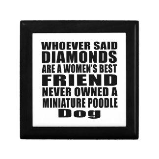 MINIATURE POODLE DOG BEST FRIEND DESIGNS GIFT BOX