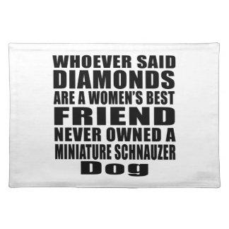 MINIATURE SCHNAUZER DOG BEST FRIEND DESIGNS PLACEMAT