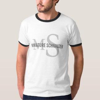 Miniature Schnauzer Dog Breed Initials Shirt