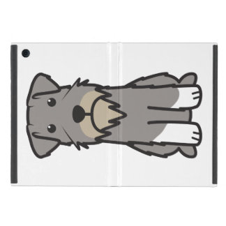 Miniature Schnauzer Dog Cartoon Cover For iPad Mini