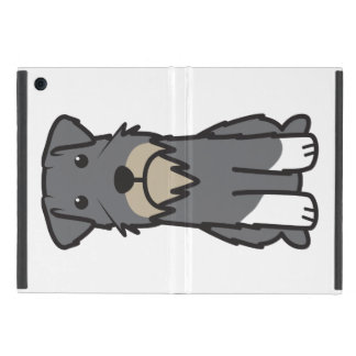 Miniature Schnauzer Dog Cartoon Covers For iPad Mini