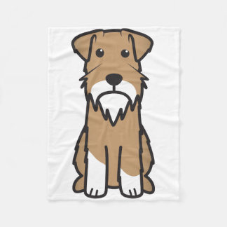 Miniature Schnauzer Dog Cartoon Fleece Blanket