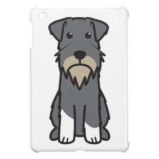 Miniature Schnauzer Dog Cartoon iPad Mini Cases