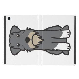 Miniature Schnauzer Dog Cartoon iPad Mini Cover