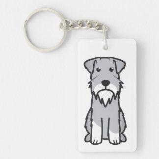 Miniature Schnauzer Dog Cartoon Key Ring