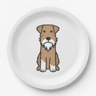 Miniature Schnauzer Dog Cartoon Paper Plate
