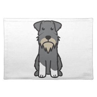Miniature Schnauzer Dog Cartoon Placemat