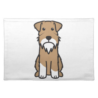 Miniature Schnauzer Dog Cartoon Placemat