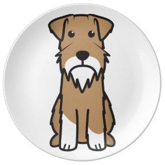 Miniature Schnauzer Dog Cartoon Plate