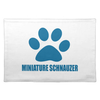 MINIATURE SCHNAUZER DOG DESIGNS PLACEMAT