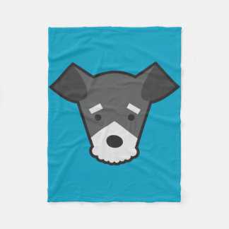 Miniature Schnauzer Fleece Blanket