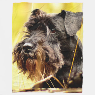 Miniature-schnauzer Fleece Blanket