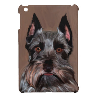Miniature Schnauzer Water Color Art Painting Cover For The iPad Mini