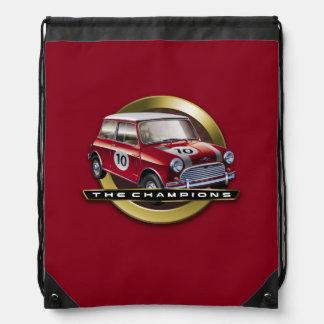 MiniCooper S red Drawstring Bag