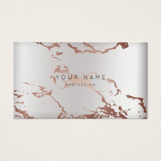 Minimal Abstract Rose Gold  Marble Appointment Business Card