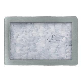 minimal abstract white paint brush texture pattern belt buckles