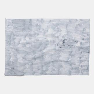 minimal abstract white paint brush texture pattern tea towel