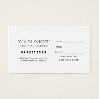 MINIMAL APPOINTMENT Hand Drawn Vintage Leaves Business Card