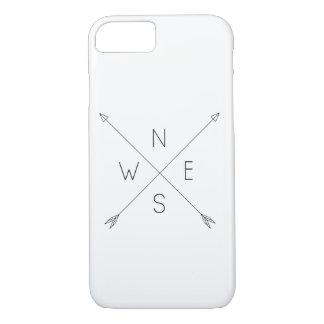 Minimal Arrow compass marries iPhone 8/7 Case