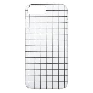 Minimal Black and White Checkbox Pattern iPhone 8 Plus/7 Plus Case