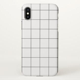 Minimal Black and White Checkbox Pattern iPhone X Case