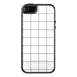 Minimal Black and White Checkbox Pattern OtterBox iPhone 5/5s/SE Case